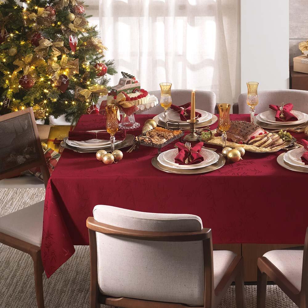 toalha de mesa karsten quadrada 8 lugares verissimo vermelho