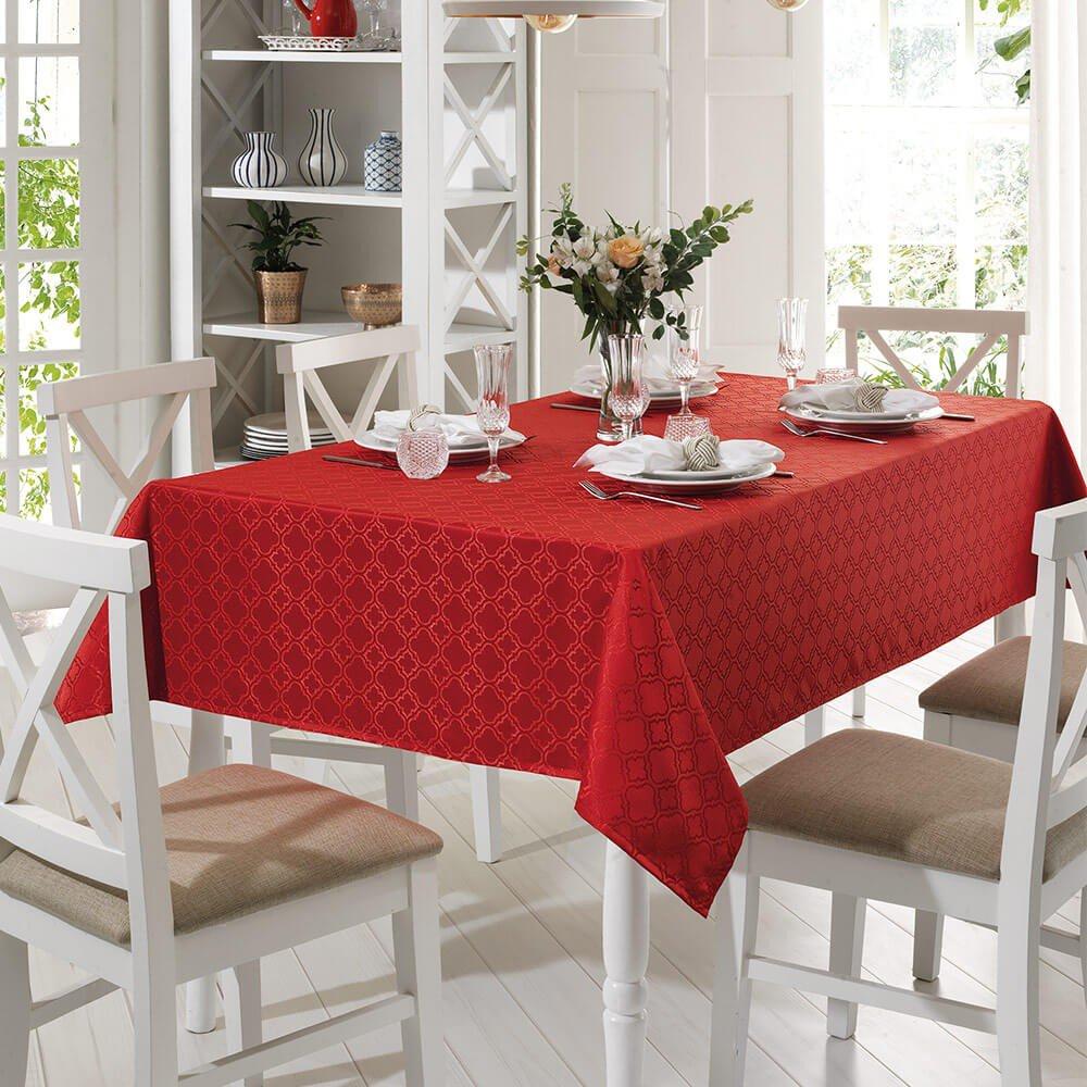 toalha de mesa requinteii retrangular tj 4667 vermelho