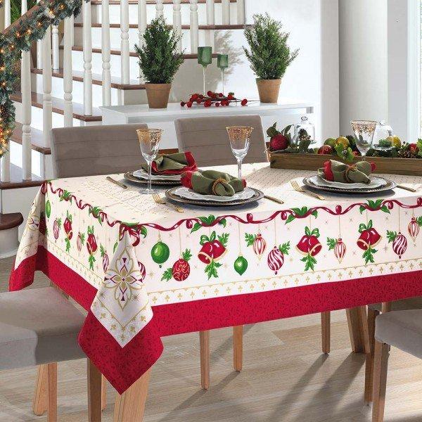 toalha de mesa dohler retangular natal 83