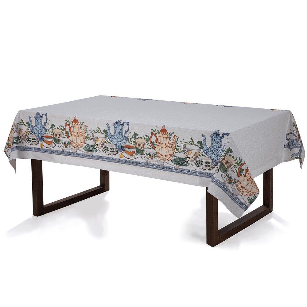 toalha de mesa cha da tarde retangular