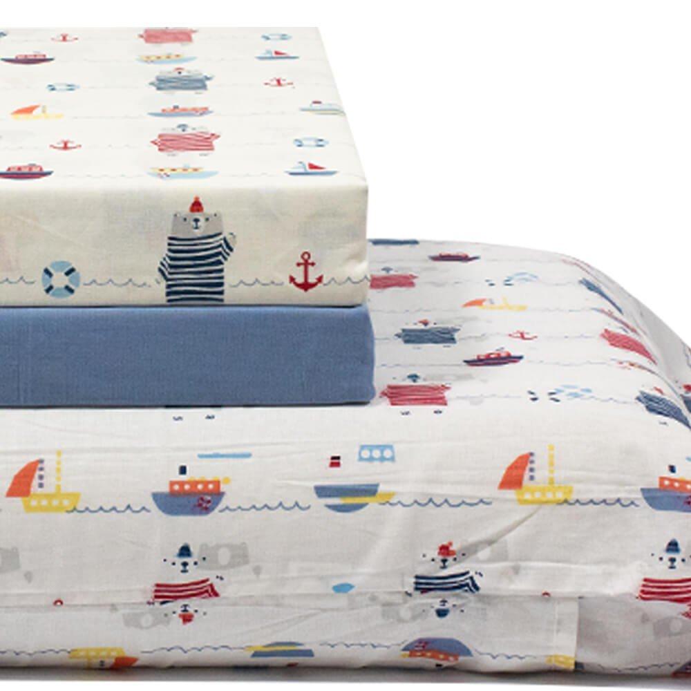 jogo de cama marinha azul 3