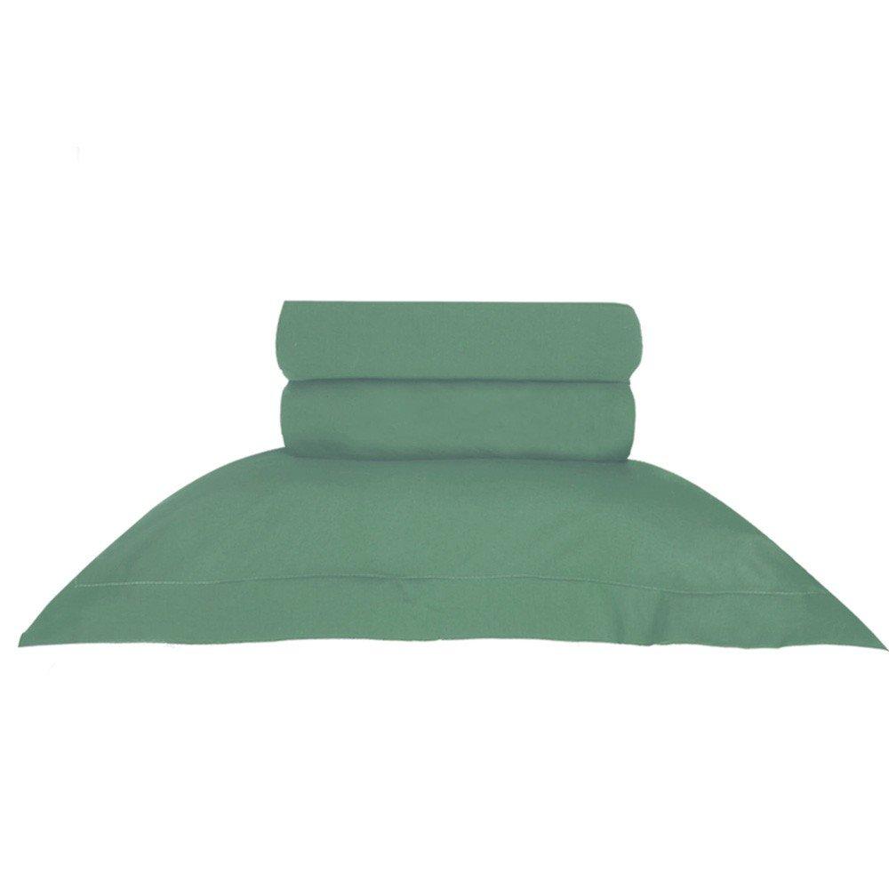 jogo de cama queen verde
