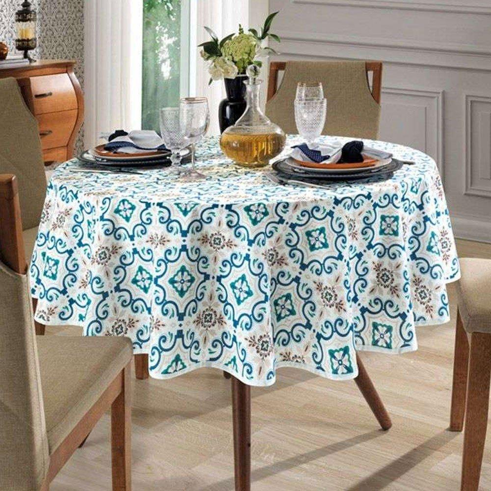 toalha de mesa redonda iris