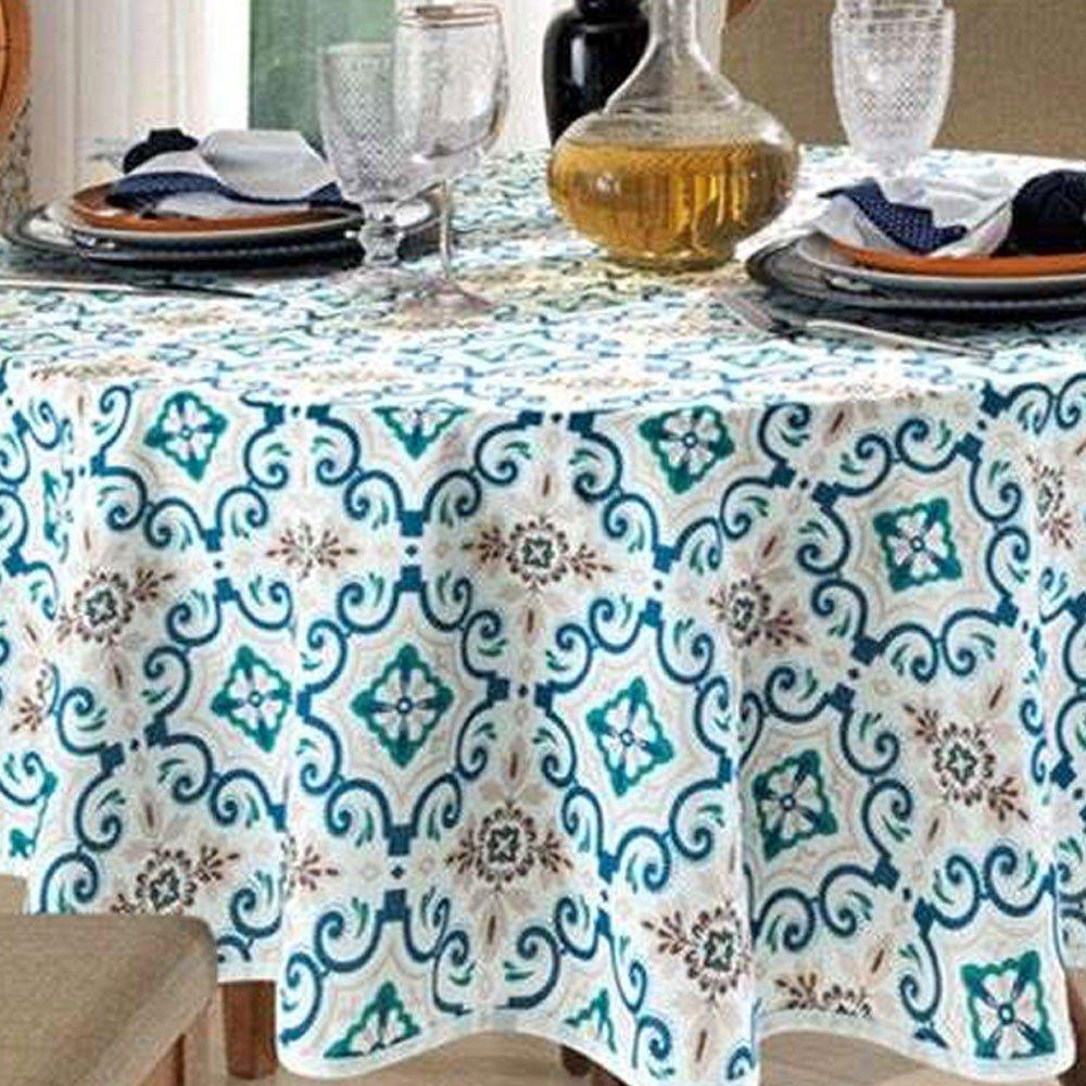 toalha de mesa redonda iris0
