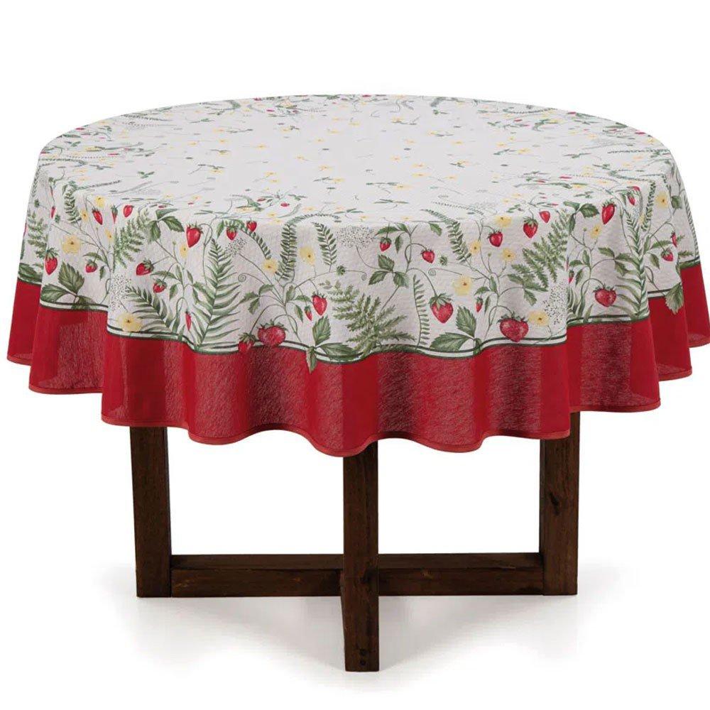 toalha de mesa frutalia redonda