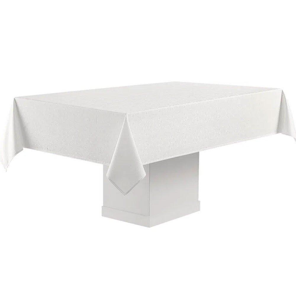 toalha de mesa faenza branco retagular