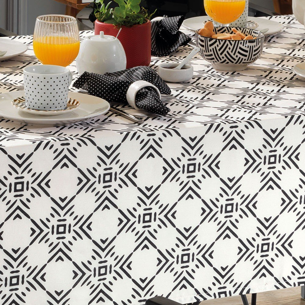 toalha de mesa dohler quadrada 8 lugares dohler clean elsa zoom