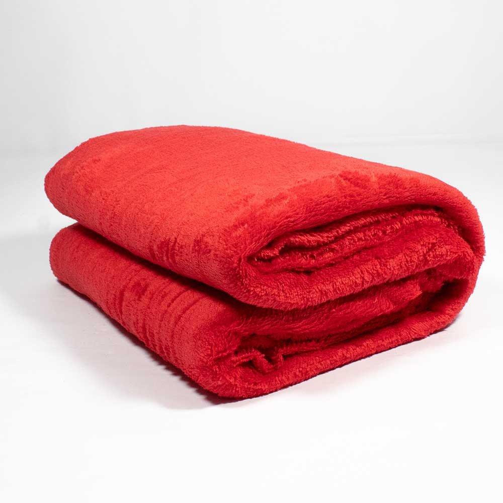 manta plush vermelho