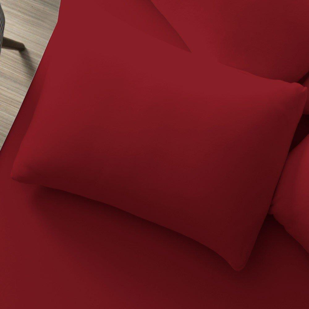 fronha vermelho rubi