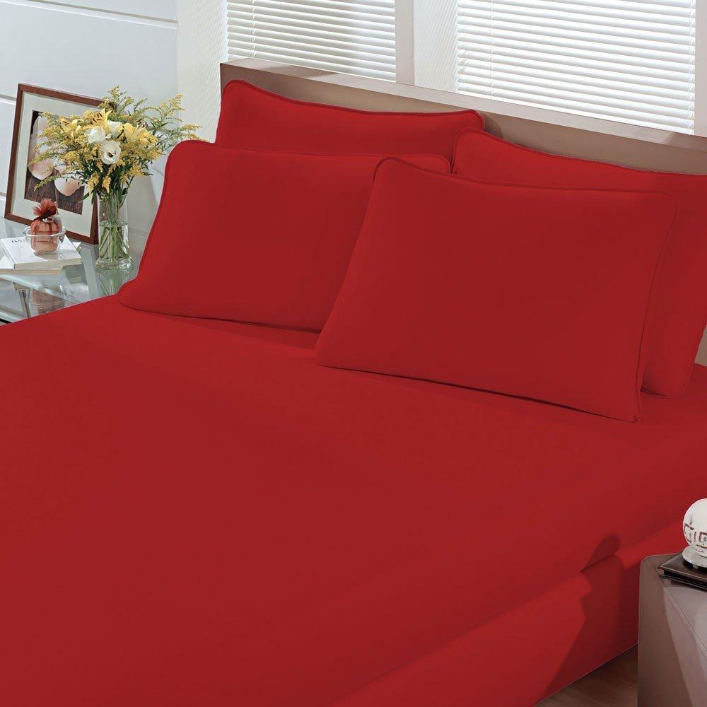 lencol art premium vermelho