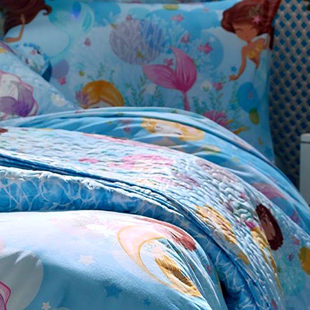 jogo de cama sereia zoom