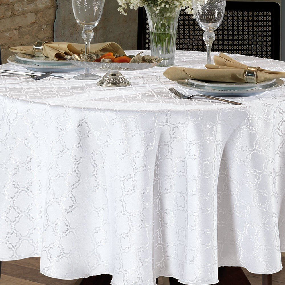 toalha de mesa requinteii redonda tj 4667 branco zoom