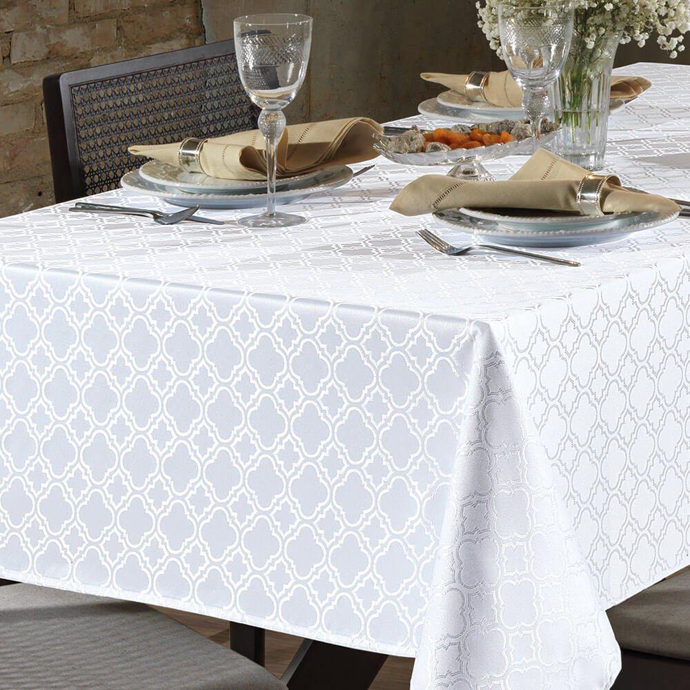 toalha de mesa requintei retangular tj 4667 branco zoom