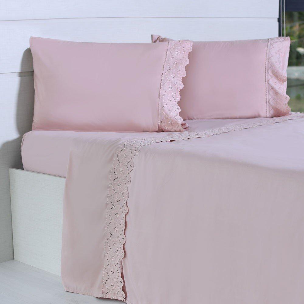 jogo de cama microfibra benecasa blush1