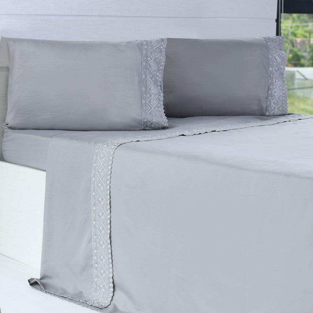 jogo de cama microfibra benecasa concreto