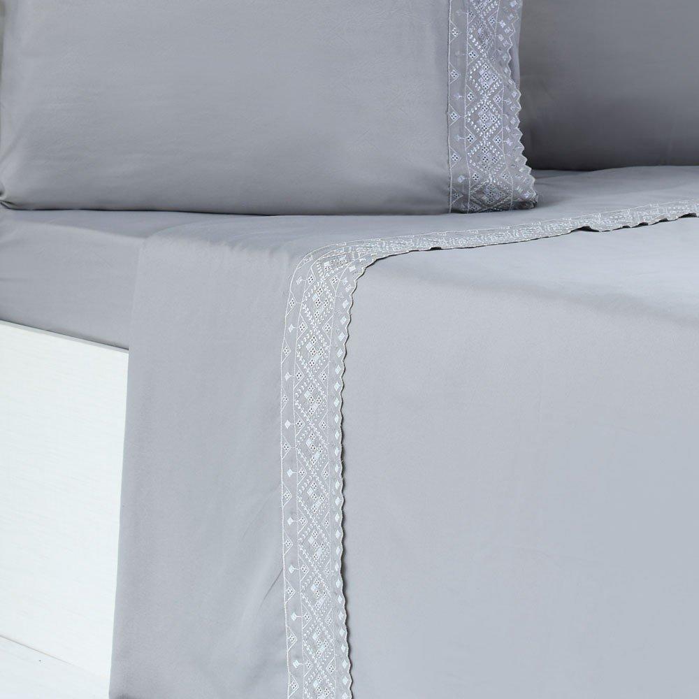 jogo de cama microfibra benecasa concreto2