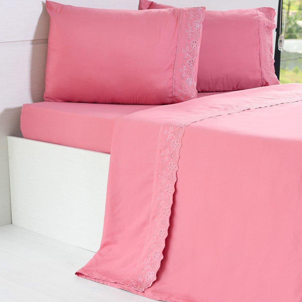 jogo de cama microfibra benecasa mauve