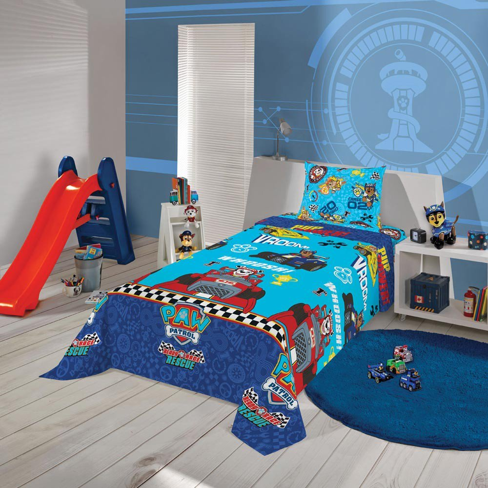 jogo de cama patrulha menino