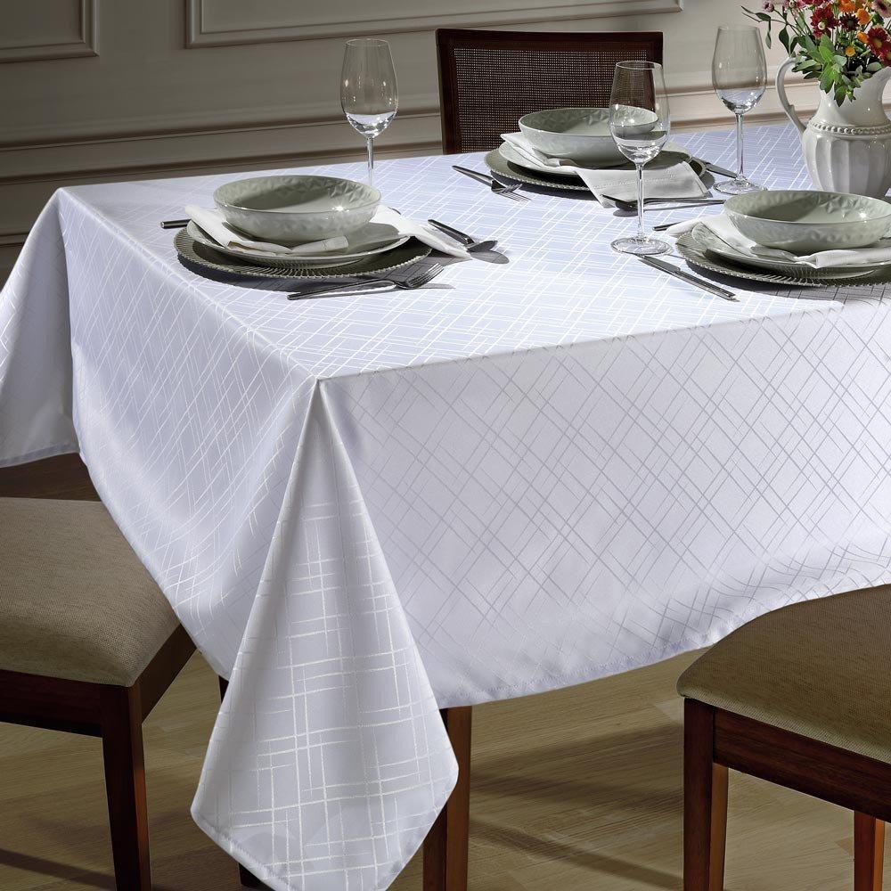 toalha de mesa tj 5795 retangular branco