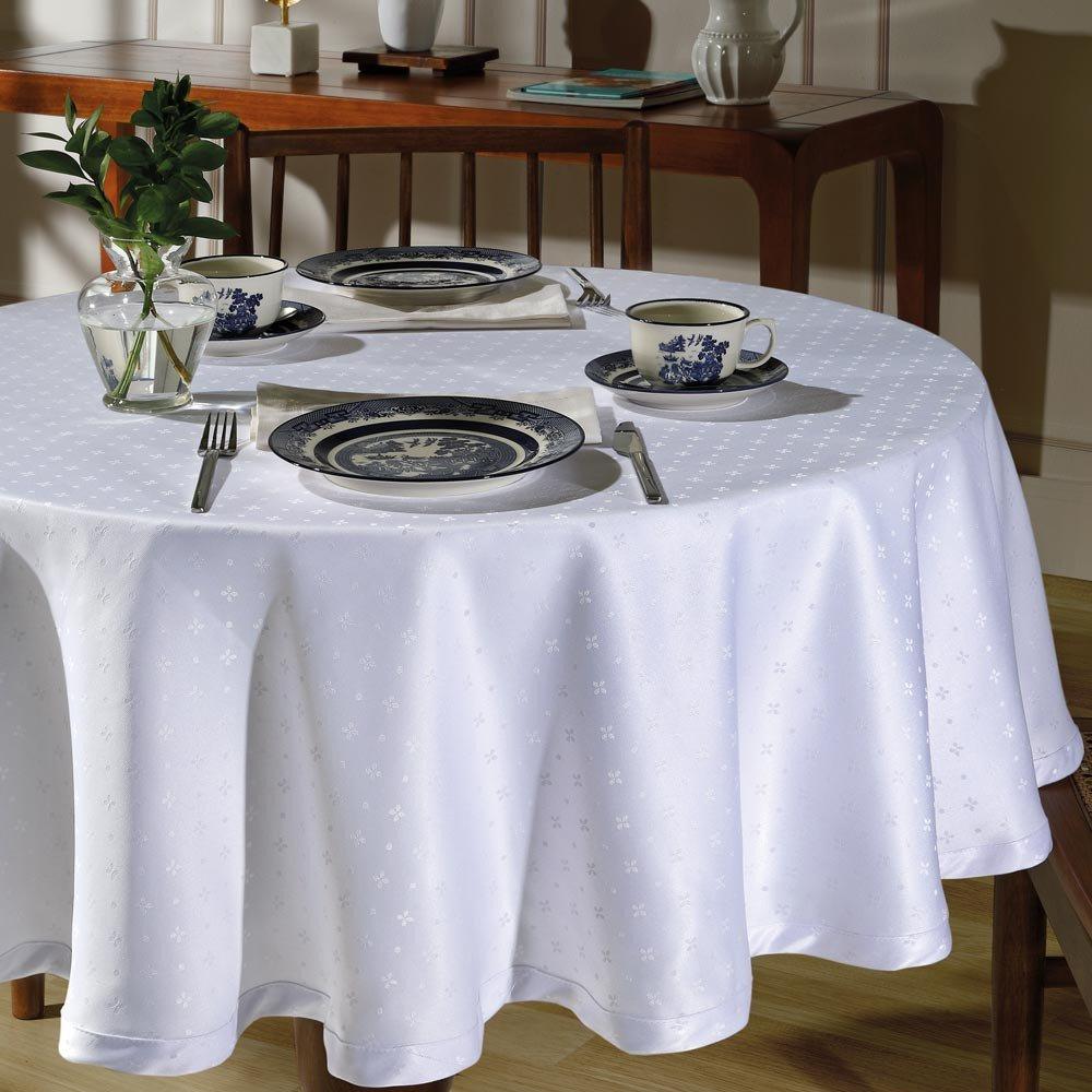 toalha de mesa tj 5796 redonda branco