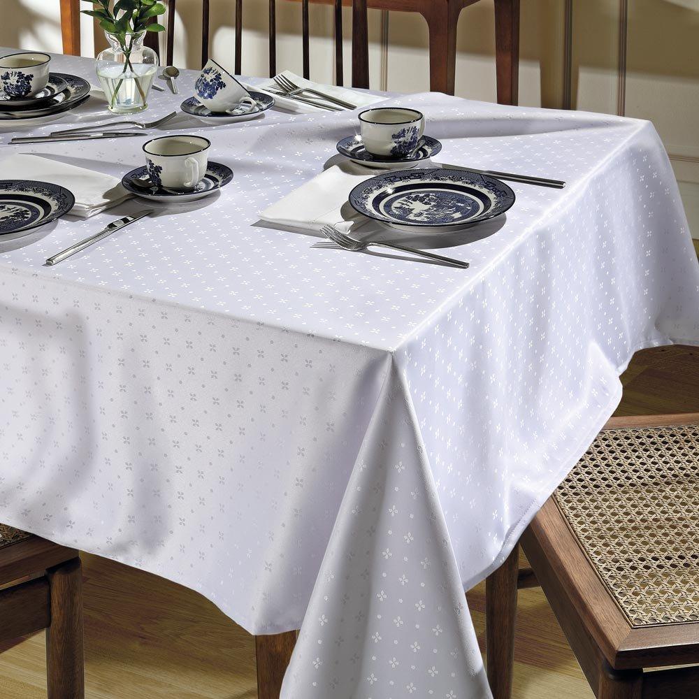 toalha de mesa tj 5796 retangular branco
