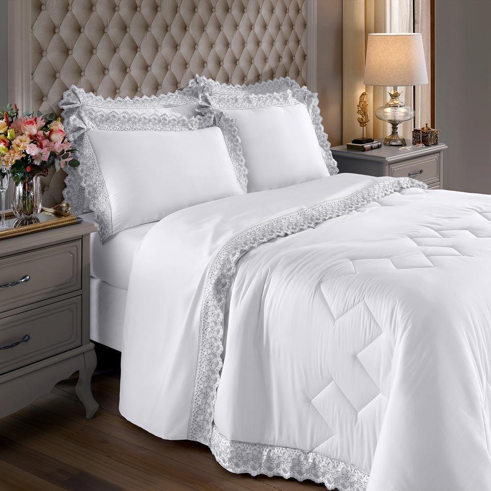 jogo de cama sahar branco