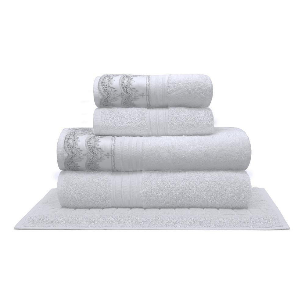 toalha luana branco 5pcs