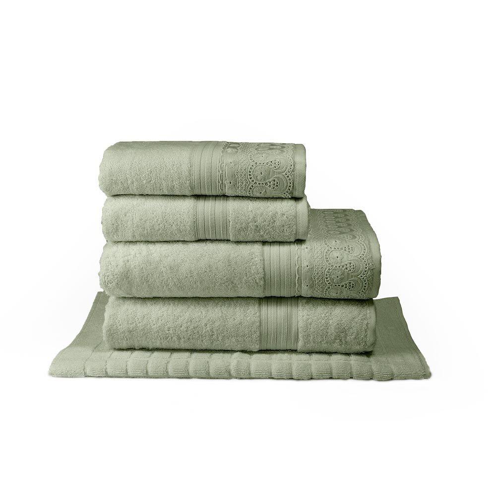 toalha renascenca verde 5pcs