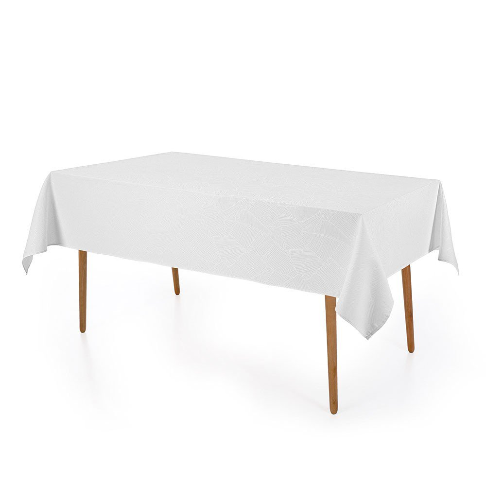 toalha de mesa herbare retangular branco